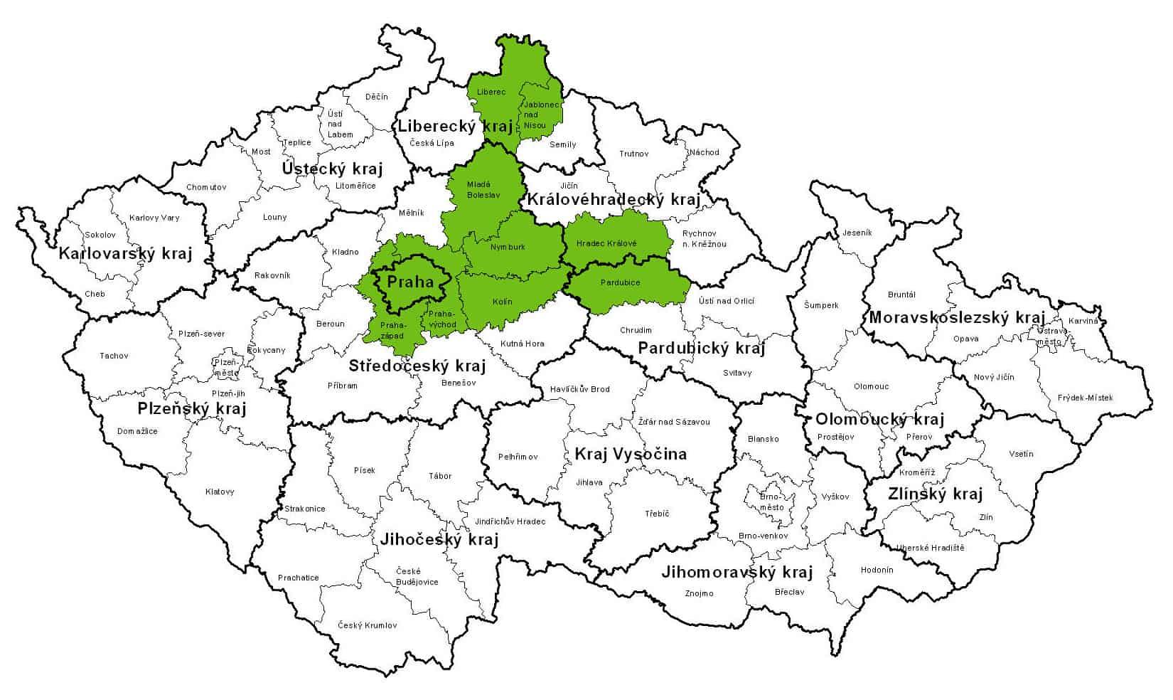 Mapa rozvozu Gastrofresh