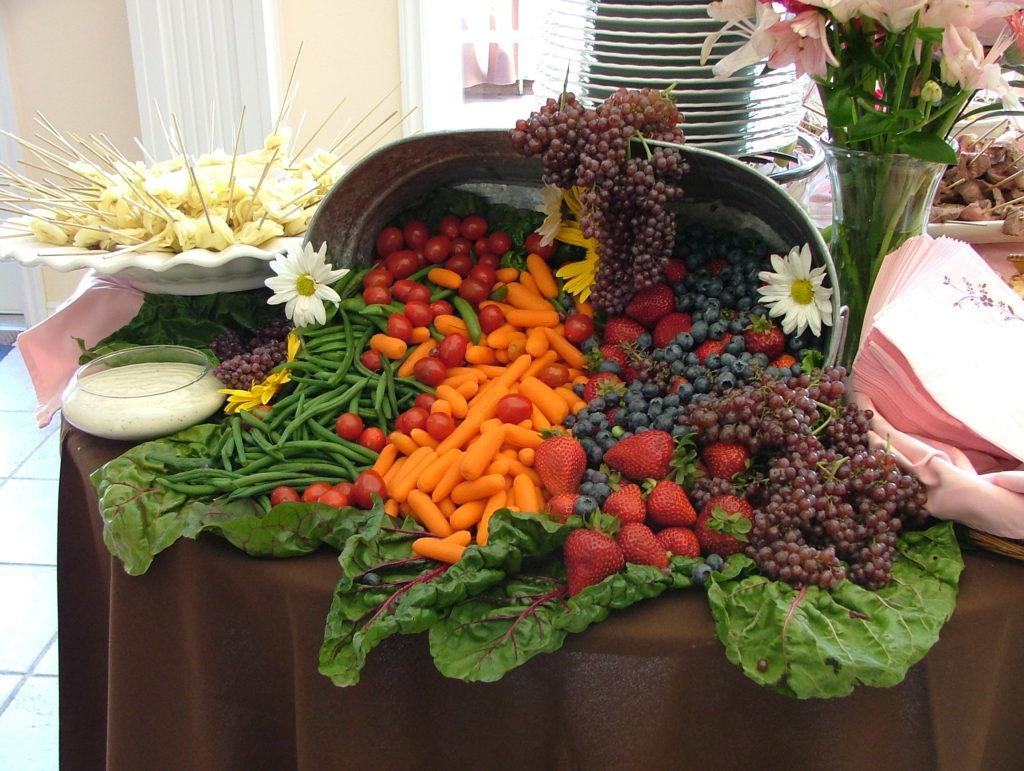Zelenina na svatbě