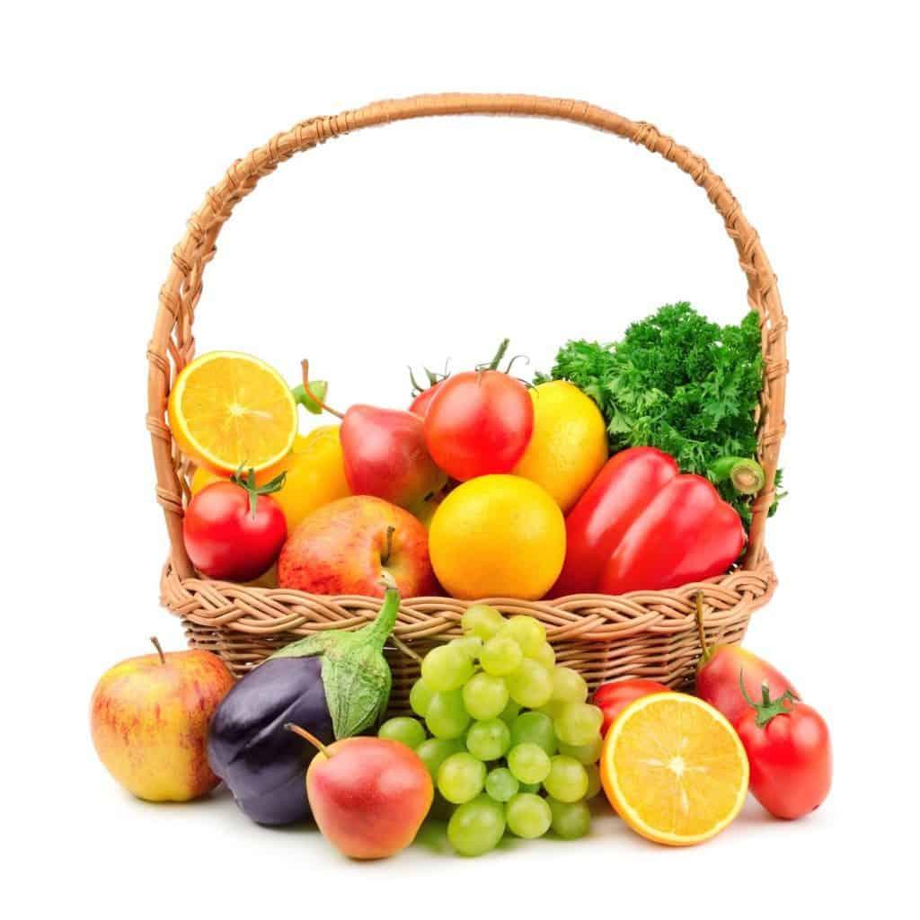koš ovoce a zeleniny